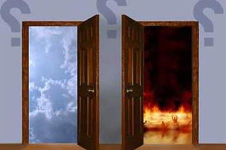 شکل درهای بهشت و جهنم چگونه است؟