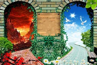 شکل درهای بهشت و جهنم,تعداد درهای بهشت,تعداد درهای جهنم
